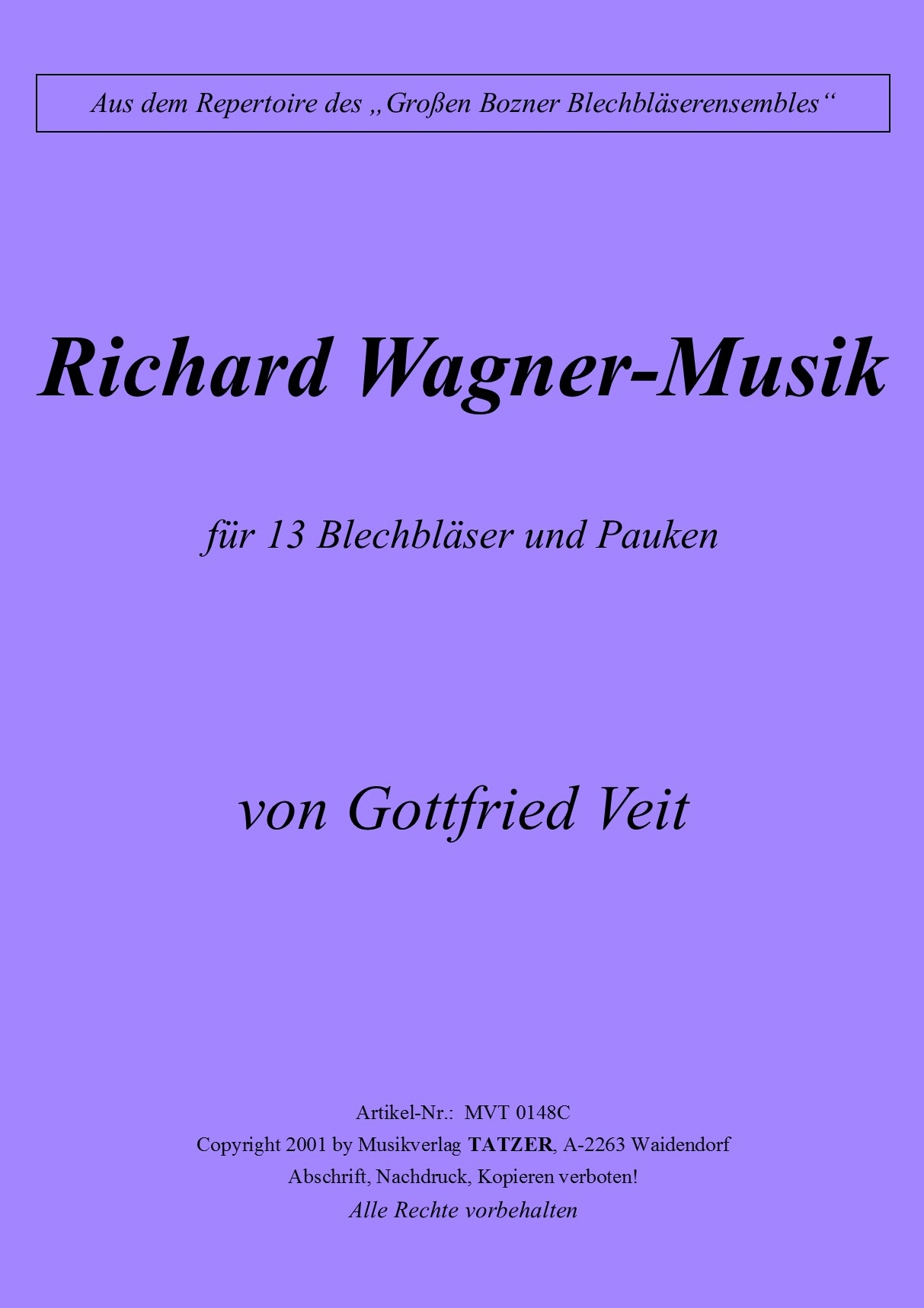 Richard Wagner Musik (C), Gottfried Veit